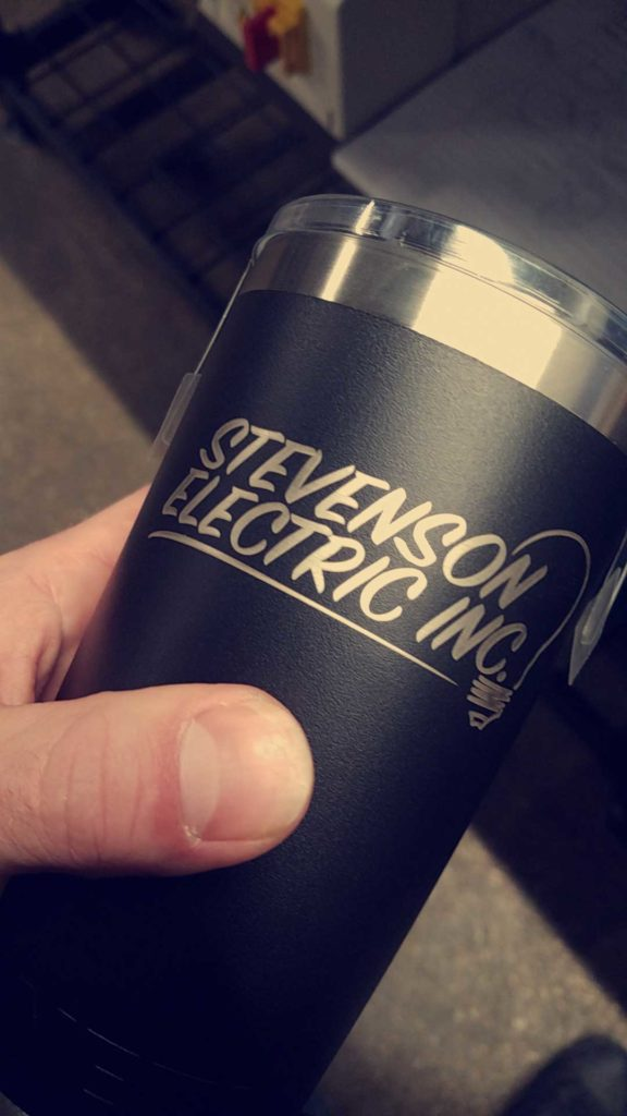 THANKS FOR THE BUSINESS STEVENESON ELECTRIC!